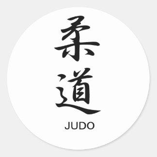 Judo - Juudou Pegatina Redonda