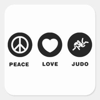 Judo Colcomanias Cuadradas Personalizadas