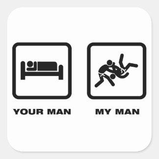 Judo Calcomania Cuadradas Personalizadas