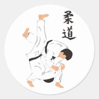 Judo Etiqueta Redonda