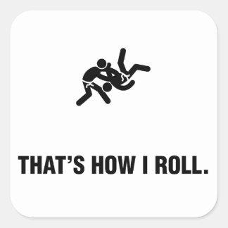 Judo Pegatinas Cuadradas