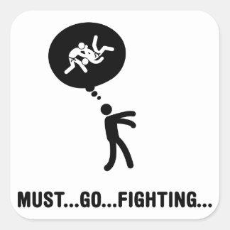 Judo Pegatina Cuadrada