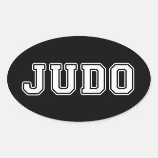 Judo Pegatina Ovalada