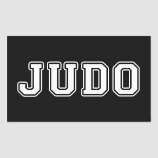 Judo Pegatina Rectangular