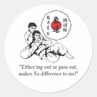 """judologokodokan1, """"golpean ligeramente hacia fuera pegatina redonda"""