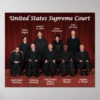 Jueces del Tribunal Supremos de Estados Unidos Póster