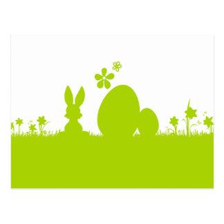 Juega a las cartas Pascua conejito de pascua huevo Postal