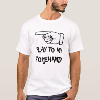 Juego a mi cuarto delantero. Camiseta divertida