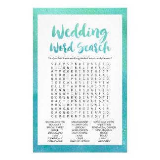 """Juego búsqueda de la palabra del boda"""" de la folleto 14 x 21,6 cm"""