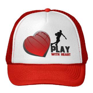 Juego con baloncesto del corazón gorra