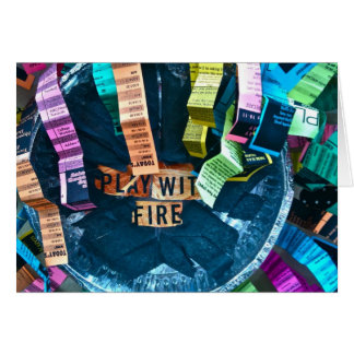 Juego con el fuego tarjeta