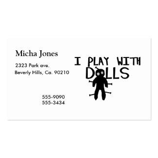 Juego con vudú de las muñecas tarjetas de visita