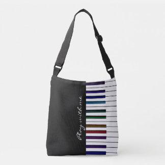 Juego conmigo bolso colorido de la música del bolsa cruzada