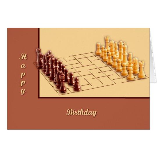 Juego de ajedrez tarjeta de felicitación