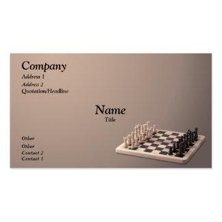 Juego de ajedrez plantillas de tarjeta de negocio