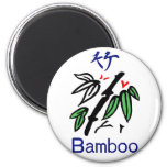 Juego de bambú de Mahjong, rojo, azul, verde, negr Imanes De Nevera