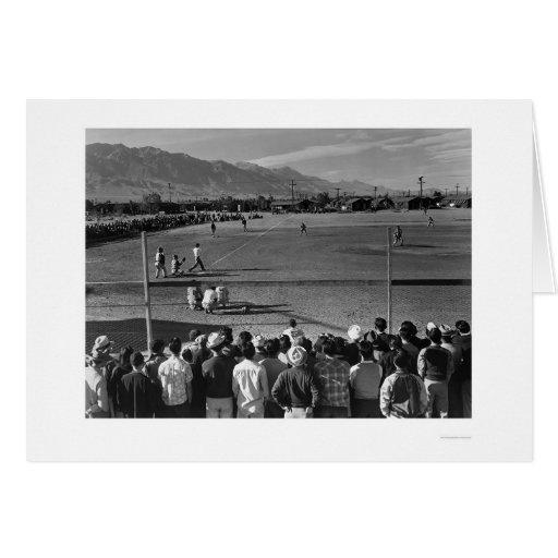 Juego de béisbol en Manzanar Felicitaciones
