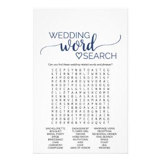 Juego de búsqueda simple de la palabra del boda de folleto 14 x 21,6 cm