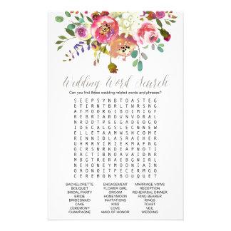 Juego de búsqueda simple de la palabra del boda folleto 14 x 21,6 cm