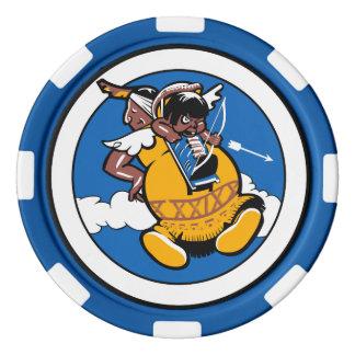 Juego De Fichas De Póquer 29no Ficha de póker de la escuadrilla de las armas