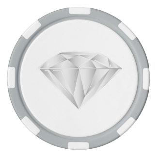 Juego De Fichas De Póquer Diamante blanco para mi amor