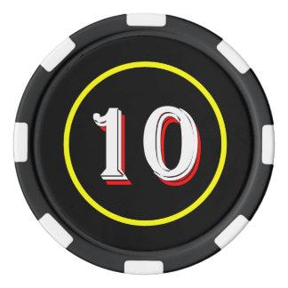 Juego De Fichas De Póquer Ficha de póker del podcast de Curioso
