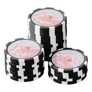 Juego De Fichas De Póquer Flor de cerezo rosada
