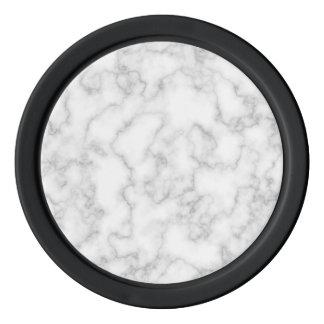 Juego De Fichas De Póquer Fondo de piedra veteado de mármol del blanco gris