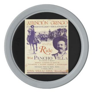 Juego De Fichas De Póquer General mexicano Pancho Villa del héroe