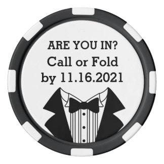 Juego De Fichas De Póquer Hombre o padrino de boda de la ficha de póker de