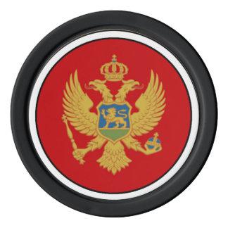 Juego De Fichas De Póquer La bandera de Montenegro