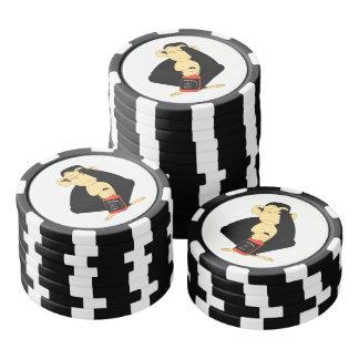 Juego De Fichas De Póquer No vea ningún naipe malvado