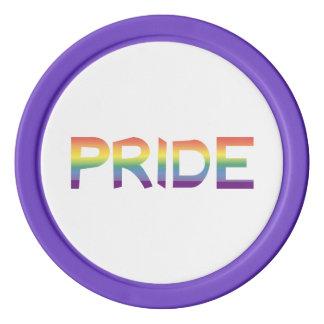Juego De Fichas De Póquer Orgullo de la bandera del arco iris
