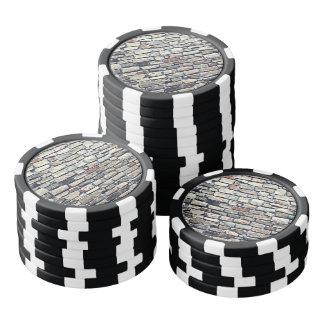 Juego De Fichas De Póquer Pared gris de la teja