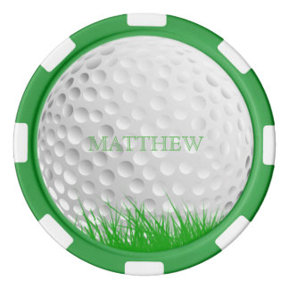 Juego De Fichas De Póquer Pelota de golf personalizada en marcador de la