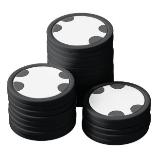 Juego De Fichas De Póquer Puntos gris oscuro a cuadros