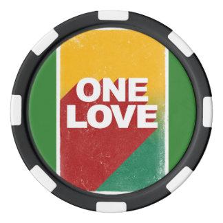Juego De Fichas De Póquer Un rasta del amor
