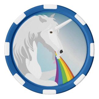 Juego De Fichas De Póquer Unicornios puking del ejemplo