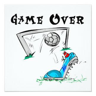 Juego de fútbol sobre las camisetas y los regalos invitación 13,3 cm x 13,3cm