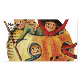 Juego de la calabaza (tarjeta de Halloween del Tarjetas De Visita