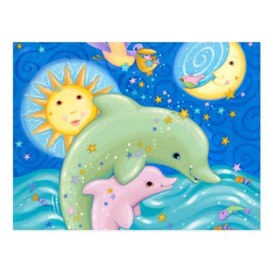 Juego de los delfínes postal