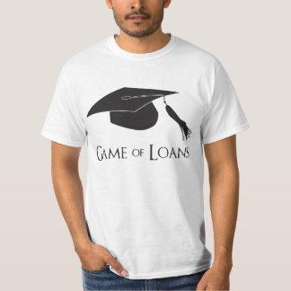 Juego de los préstamos de la graduación de la camisas