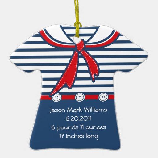 Juego de marinero del bebé B Ornaments Para Arbol De Navidad