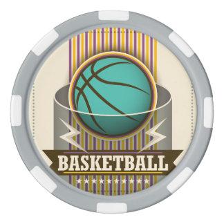 Juego de pelota del deporte del baloncesto fresco fichas de póquer