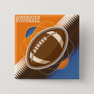 Juego de pelota del deporte del fútbol americano chapa cuadrada