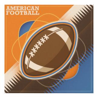 Juego de pelota del deporte del fútbol americano cuadro