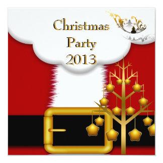 Juego de Santa de la fiesta de Navidad Invitación 13,3 Cm X 13,3cm