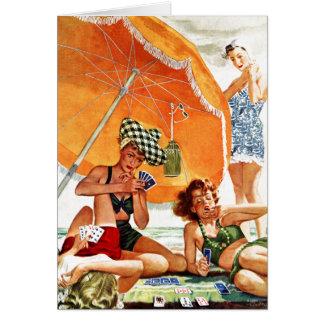 Juego de tarjeta en la playa de Alex Ross