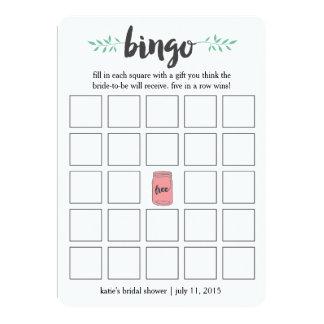 Juego de tarjeta nupcial del bingo de la ducha, invitación 12,7 x 17,8 cm