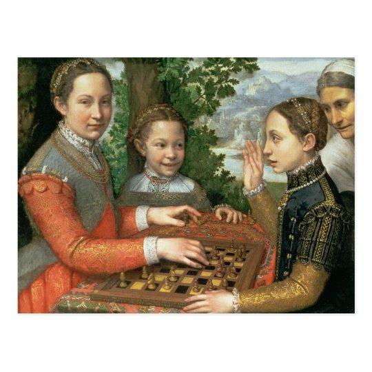 Juego del ajedrez, 1555 postal